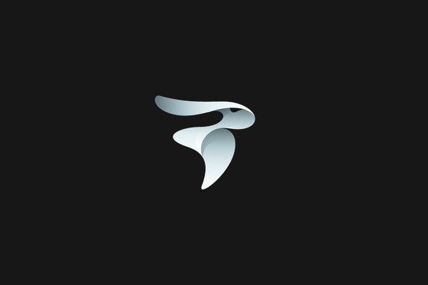 Abstract Flow Rabbit Mark Logo
