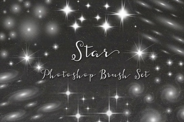 Abstract Glow Star Brushes