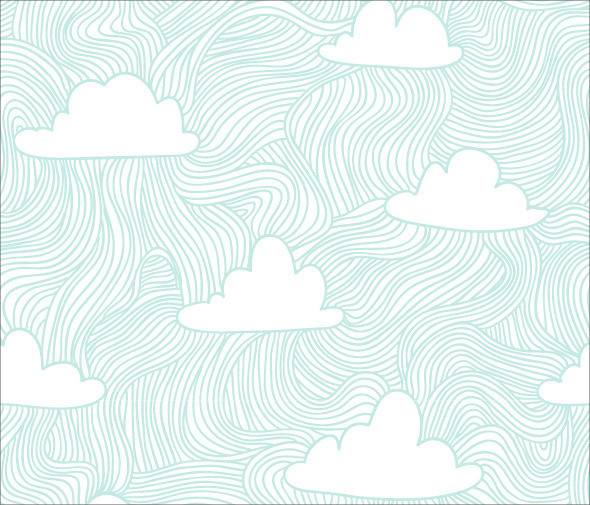 Abstract Hand Drawn Sky Pattern
