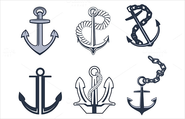 Abstract Icons of Anchor