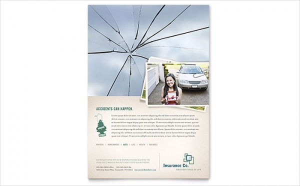 Abstract Insurance Company Flyer