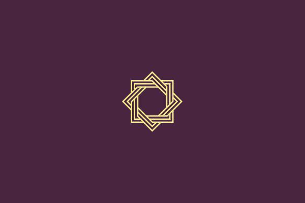 Abstract Rectangle Purple Logo