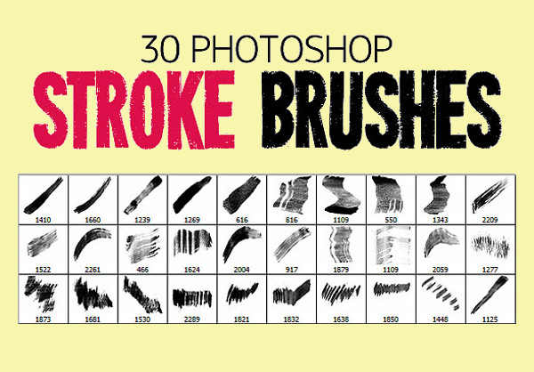 Abstract Stroke Brush Pack