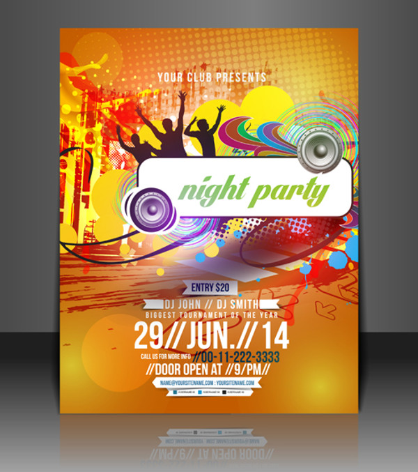 Abstract Summer Party Flyers