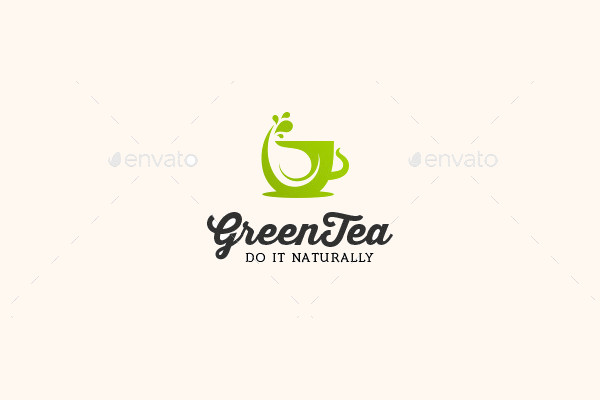Abstract Tea Company Logo