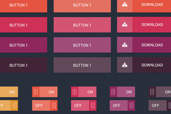 Abstract UI Buttons Kit
