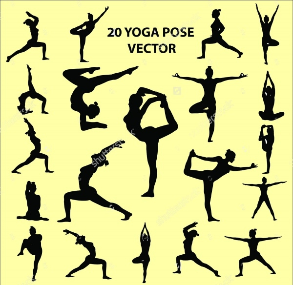 Abstract Yoga Pose Vector