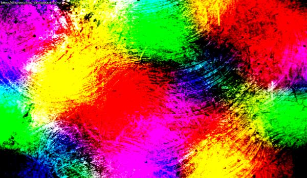 Acrylic Paint Rainbow Texture