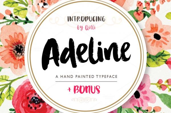 Adeline Typeface Brush Script Font