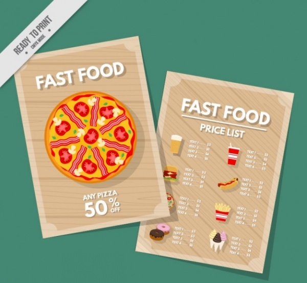 Advertising Pizza Fast Food Flyer