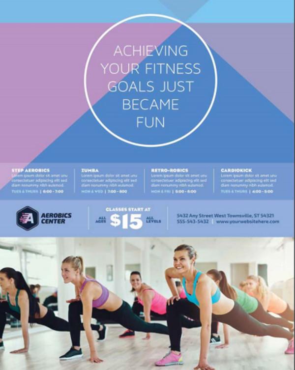 Aerobics Center Flyer Template