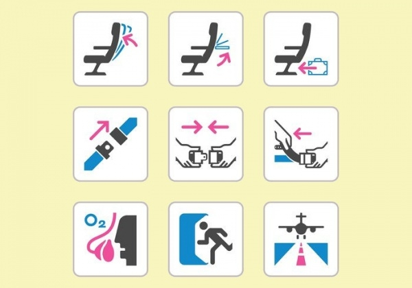 Aircraft Safety Vector Icons