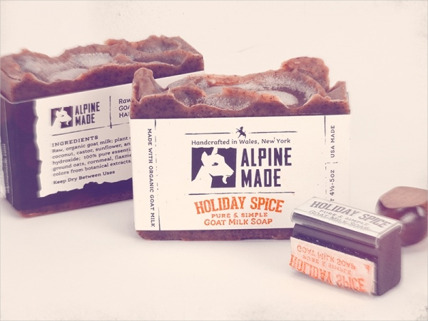 Alpine Made Soap Label With Stamp