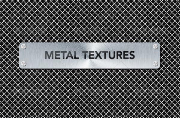 Aluminium Chrome Mesh Texture