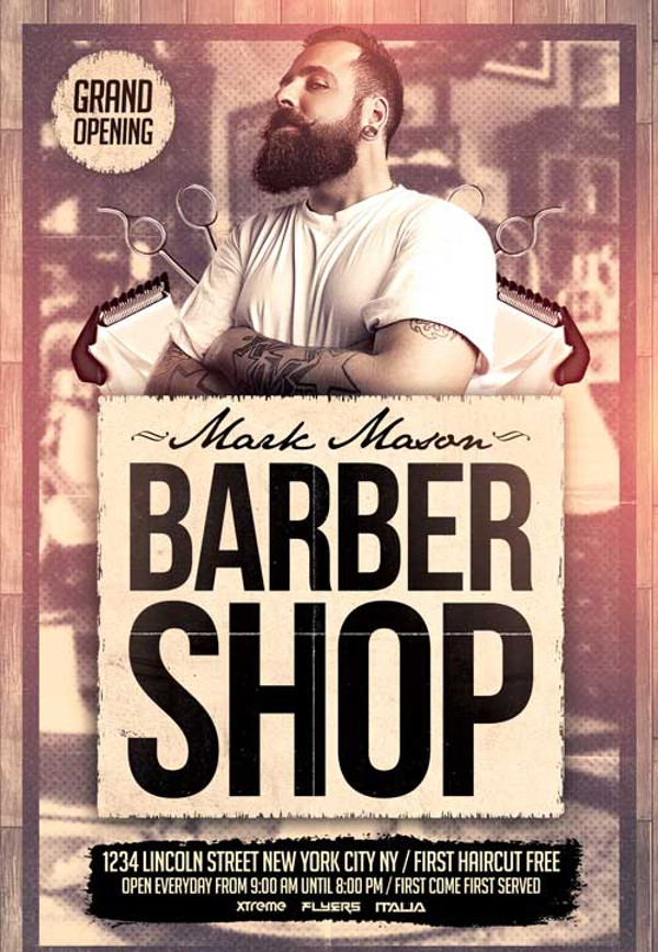 Amazing Barbershop Grand Opening Flyer