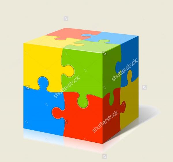 Amazing Cube Puzzle Vector