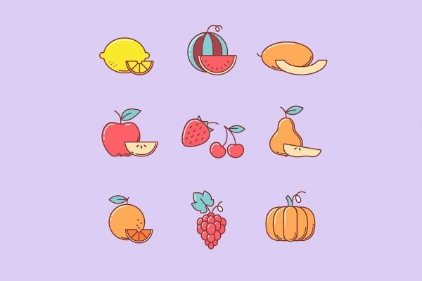 Amazing Fruit Vector Icons