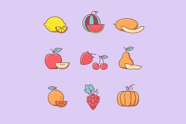 Amazing Fruit Vector Icons