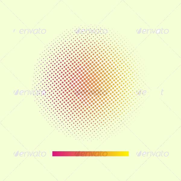 Amazing Halftone Circle Vector