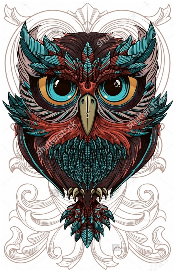 Amazing Illustration of Owl