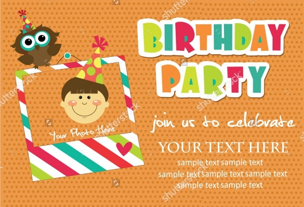 21 Kids Birthday Invitations PSD Vector EPS JPG Download – Sample Kids Birthday Invitation