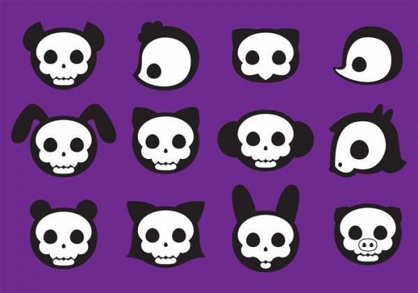 Dead Animal Skull Vectors