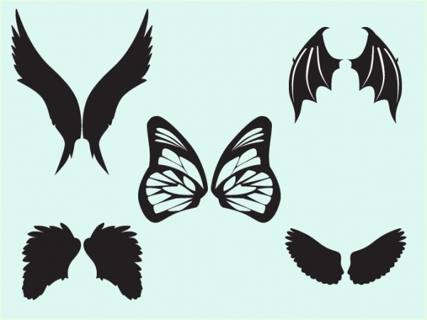 Animal Cartoon Wings vector