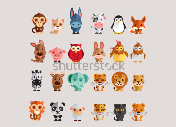 Animal Vector illustration Icon Set