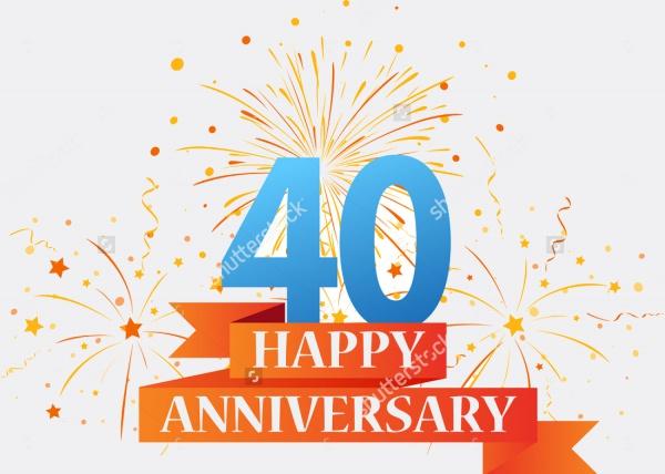 Anniversary Celebration Vector