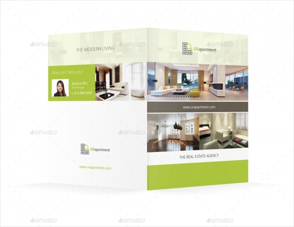 Apartment For Rent Bifold Brochure Design