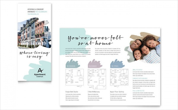 Apartment Trifold Brochure InDesign Template