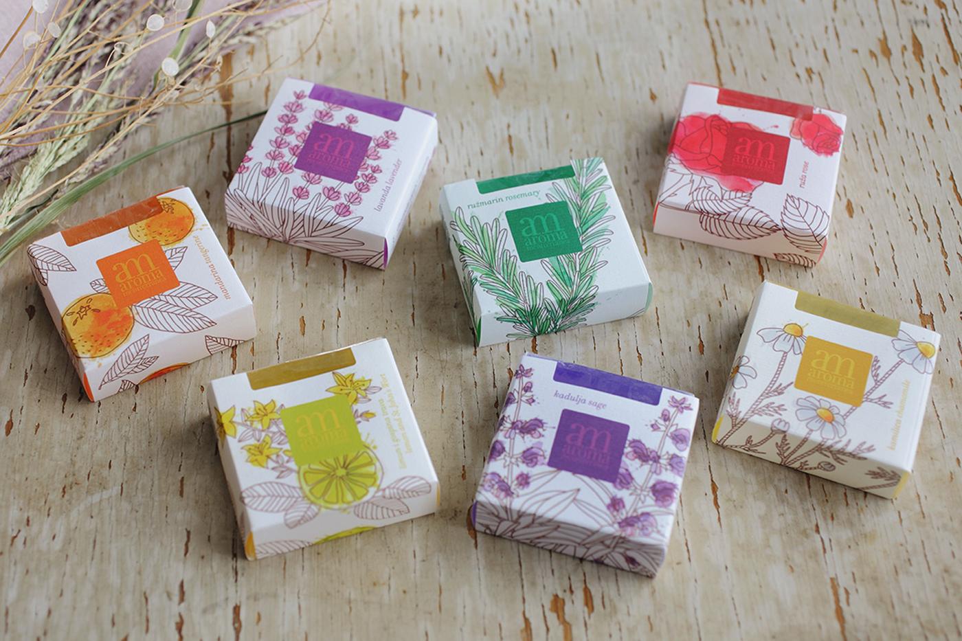 Aroma Mediterranea Soaps Label Design