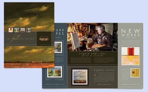 Art Gallery & Artist Studio Brochure