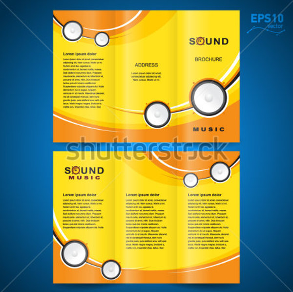 Audio Speaker Sound Music Brochure