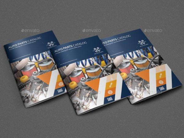 Auto Parts Catalog Brochure Template