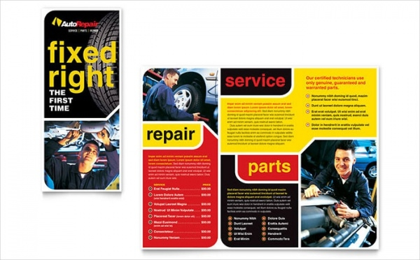 Auto Repair Automotive Brochure Template