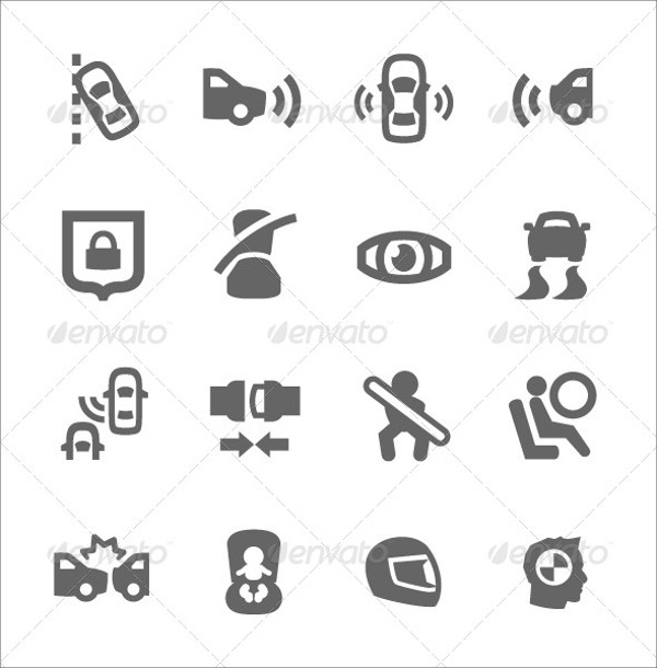 Auto Repairing Safety Icons