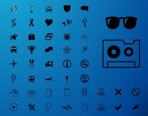 Automobile Minimal Arrows Icons