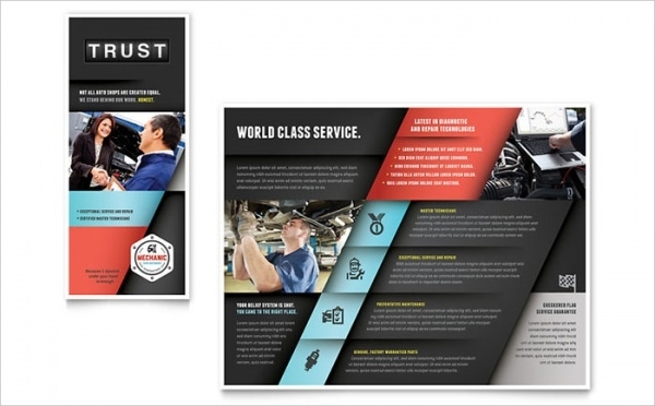 Automotive Auto Mechanic Brochure Template