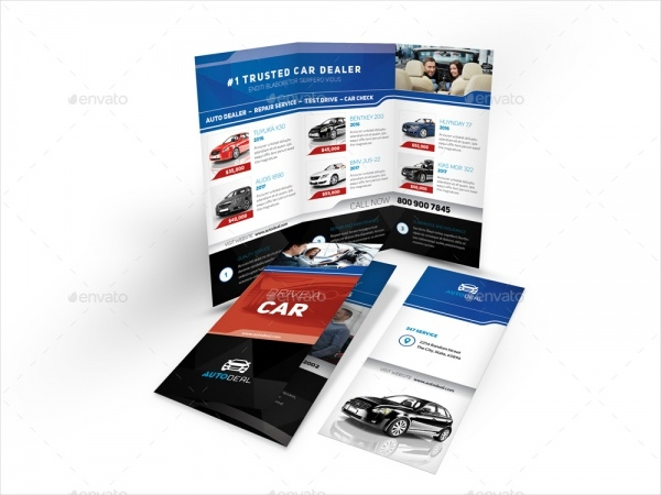 Automotive Car Dealer Trifold Brochure