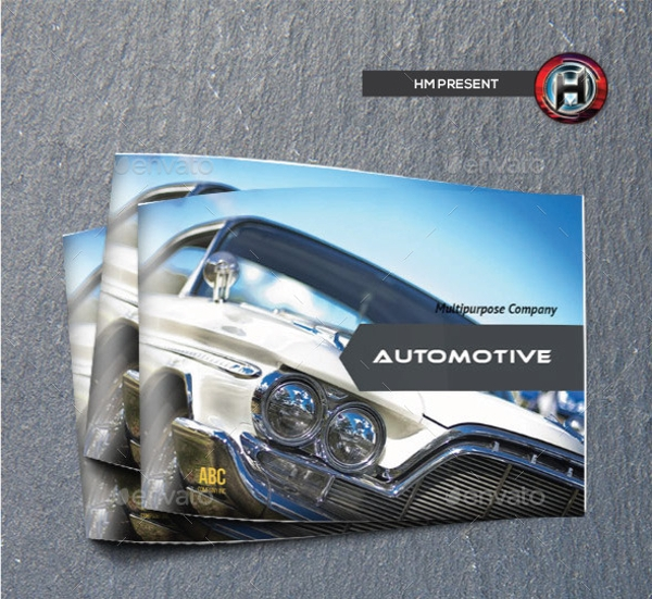 Automotive Catalog Brochure