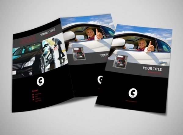 Automotive Professional Car Washing Bi-Fold Brochure
