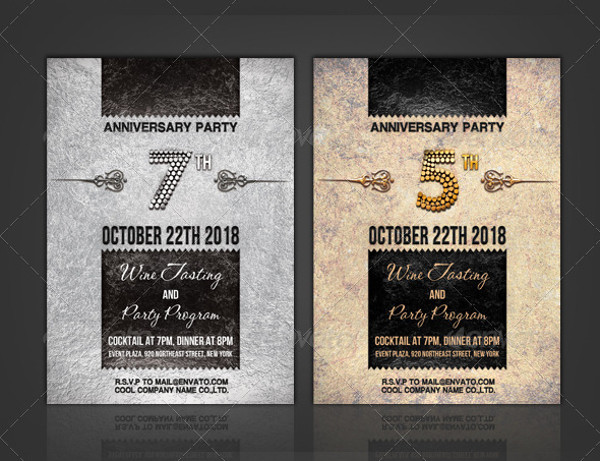 Awesome Anniversary Party Invitation