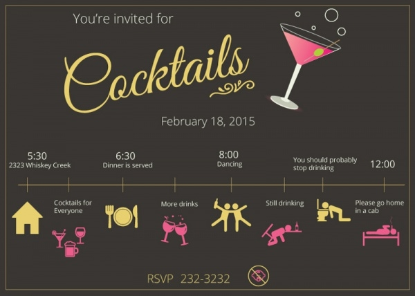 Awesome Cocktail Party Invitation