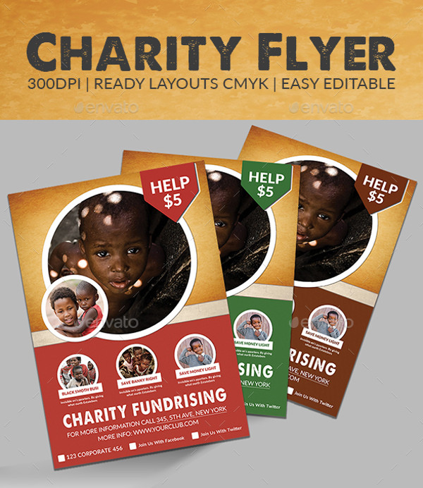 Awesome PSD Charity Flyer