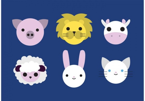 Baby Animal Vectors In Minimal Style