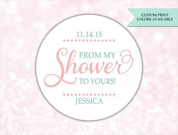 Baby Shower Soap Label Design