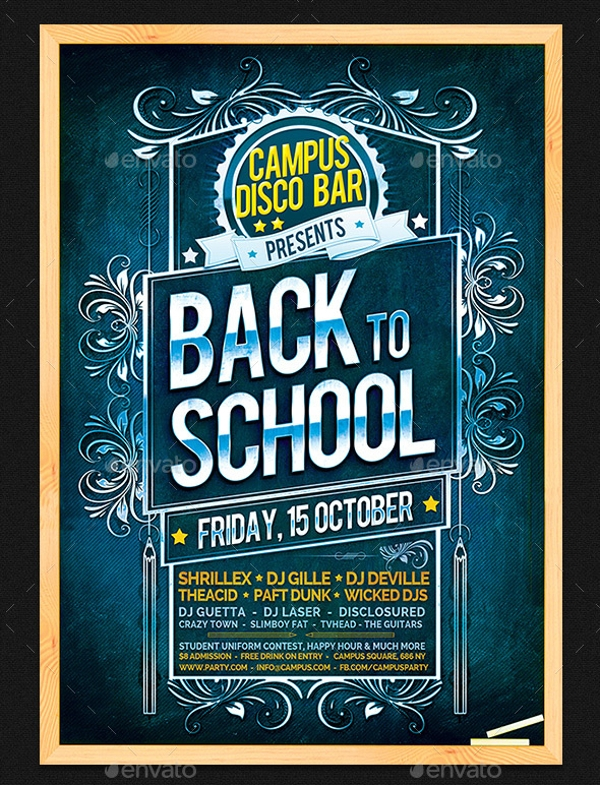 Back to School Chalkboard Flyer