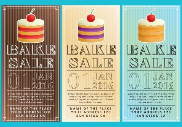 Bake Sale Advertisement Flyers
