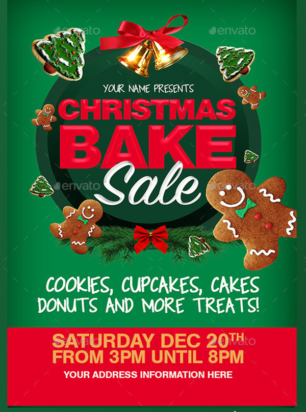Bake Sale Flyer for Christmas